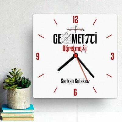 - Geometri Öğretmenlerine Özel Duvar Saati