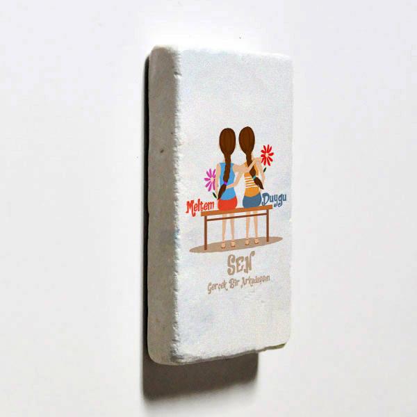 Gerçek Dost Temalı Buzdolabı Magneti