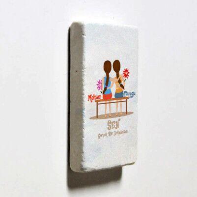 Gerçek Dost Temalı Buzdolabı Magneti - Thumbnail