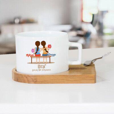 - Gerçek Dost Temalı Çay Fincanı