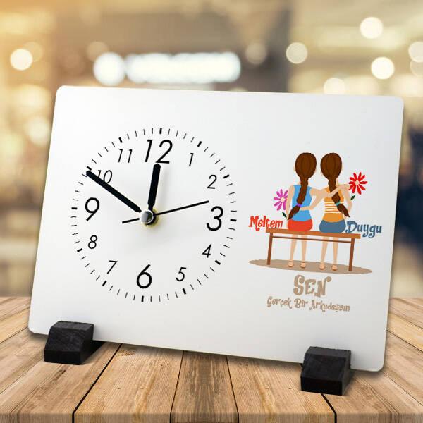 Gerçek Dost Temalı Masa Saati