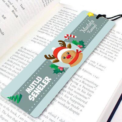 - Geyikli Mutlu Yıllar Tasarımlı Kitap Ayracı