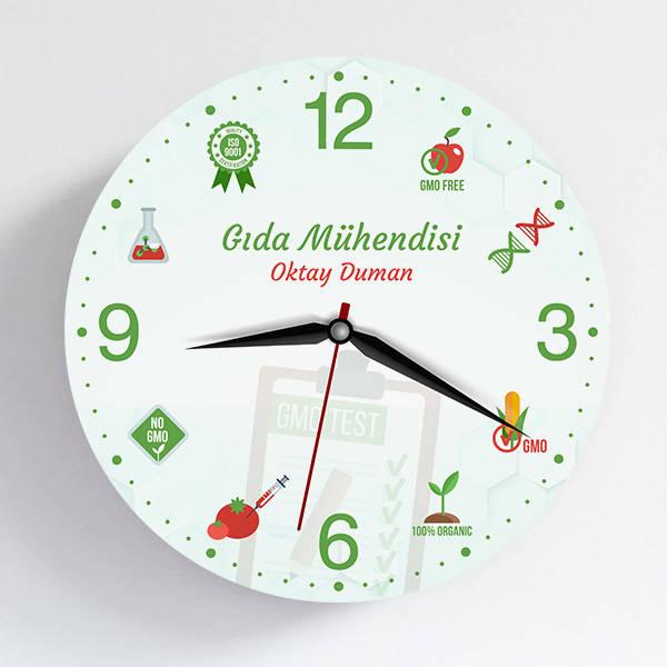 Gıda Mühendisine Hediye Duvar Saati
