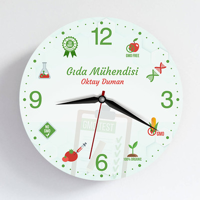 - Gıda Mühendisine Hediye Duvar Saati
