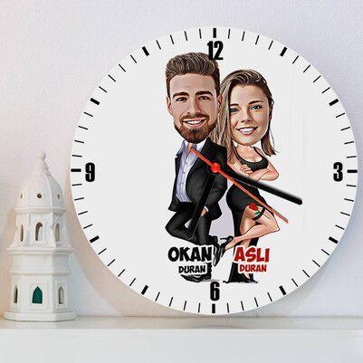 - Gizli Ajan Sevgililer Karikatürlü Duvar Saati