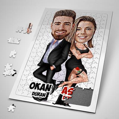 - Gizli Ajan Sevgililer Karikatürlü Puzzle