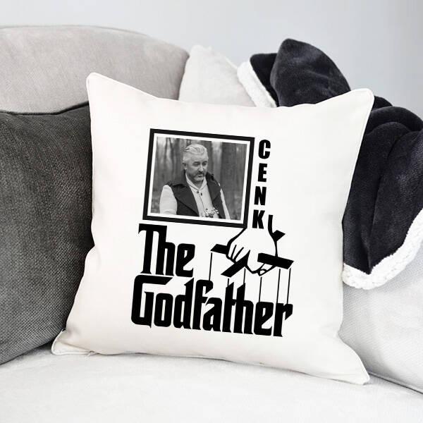 Godfather İsimli ve Fotoğraflı Yastık