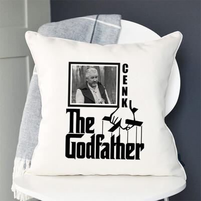 Godfather İsimli ve Fotoğraflı Yastık - Thumbnail