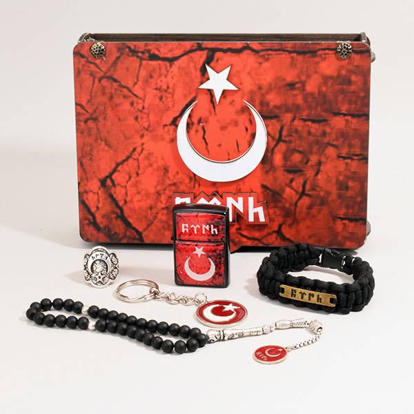 Göktürkçe Türk Temalı Erkek Hediye Seti