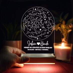 - Gökyüzü Altında Aşk 3d Led Lamba