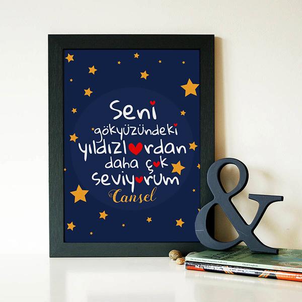 Gökyüzündeki Yıldızlar Kadar Seviyorum Sertifika