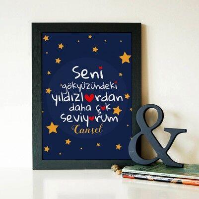 - Gökyüzündeki Yıldızlar Kadar Seviyorum Sertifika