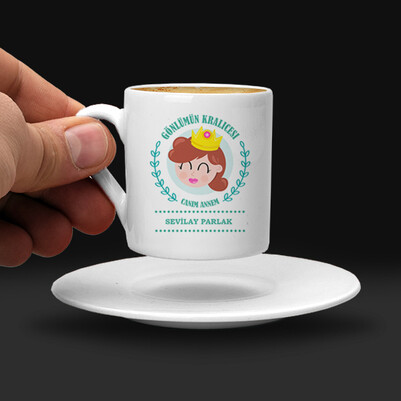 Gönlümün Kraliçesi Annem Kahve Fincanı - Thumbnail