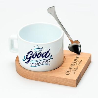 Good Morning Lüks Çay Fincanı - Thumbnail