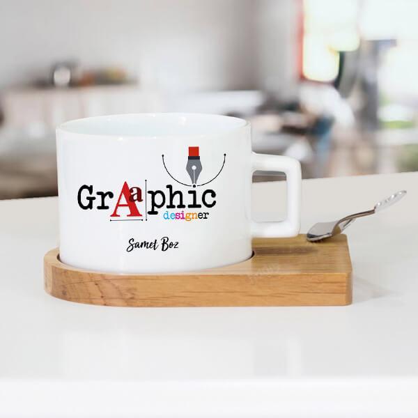 Grafik Tasarımcısına Hediye Çay Fincanı