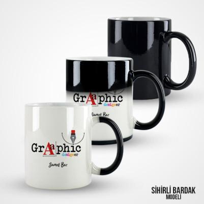 Grafik Tasarımcısına Hediye Kupa Bardak - Thumbnail