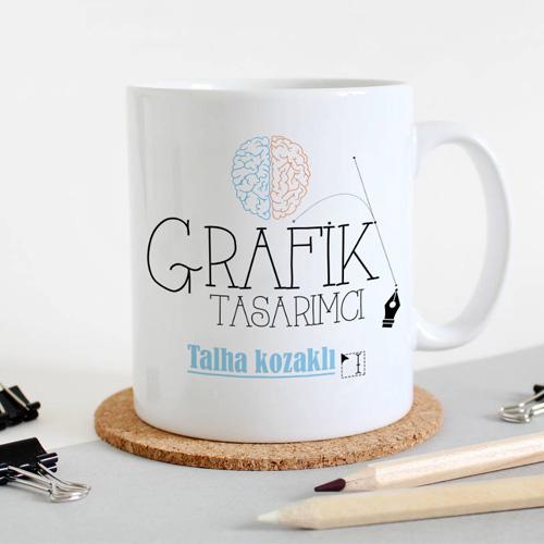 Grafikerlere Özel İsim Yazılı Kupa Bardak