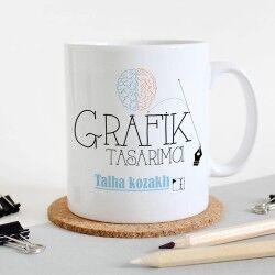 - Grafikerlere Özel İsim Yazılı Kupa Bardak