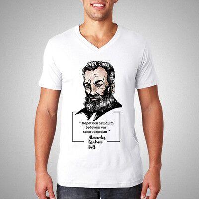 - Graham Bell Esprili Tişört