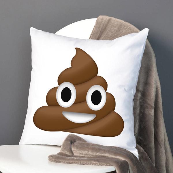 Gülen Bok Emoji Yastık