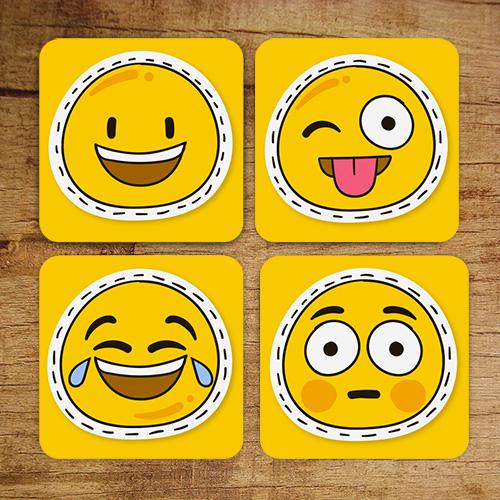 Gülen Yüz Smiley Bardak Altlıkları