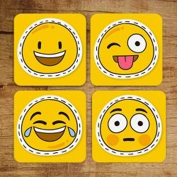 - Gülen Yüz Smiley Bardak Altlıkları
