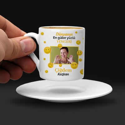 Güler Yüzlü Yengem Kahve Fincanı - Thumbnail