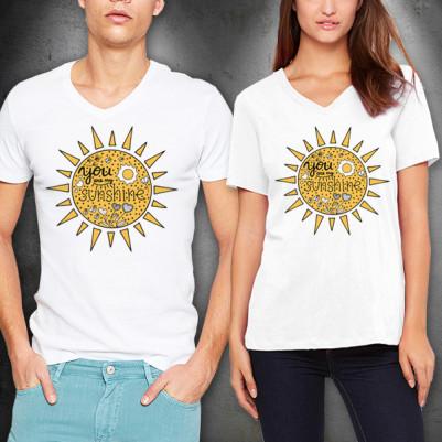 - Gün Işığımsın Beyaz Sevgili Tişörtleri