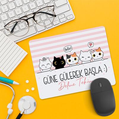 Güne Gülerek Başla Sevimli Mousepad - Thumbnail