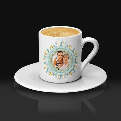 Güzel Annem Fotoğraflı Kahve Fincanı - Thumbnail