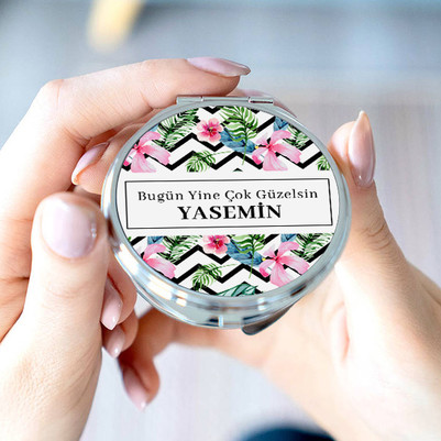 Güzel Sevgilim İsimli Cep Aynası - Thumbnail