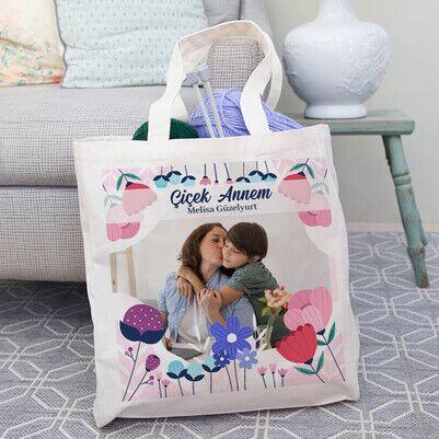 Güzeller Güzeli Annem Fotoğraflı Çanta - Thumbnail