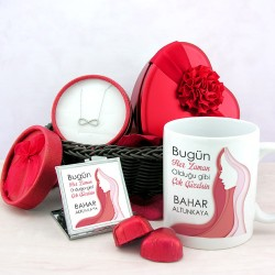 Güzeller Güzeli Sevgilime Hediye Sepeti - Thumbnail