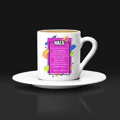 Halama Hediyem İsimli Kahve Fincanı - Thumbnail