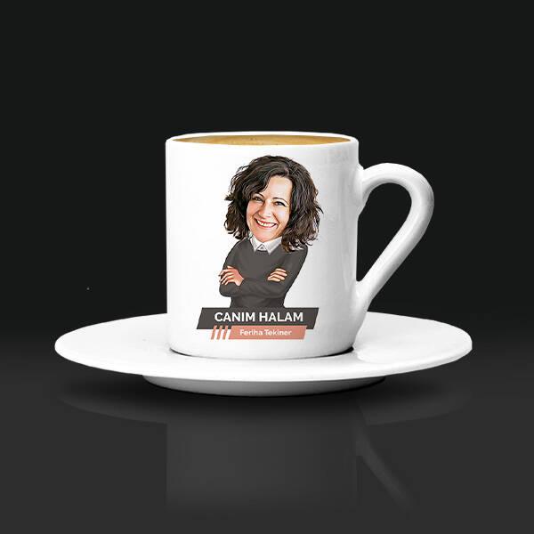 Halaya Hediye Karikatürlü Kahve Fincanı