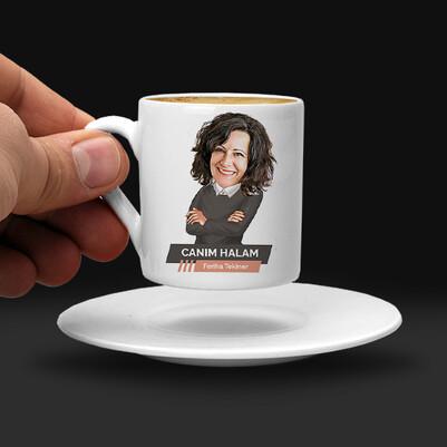 Halaya Hediye Karikatürlü Kahve Fincanı - Thumbnail