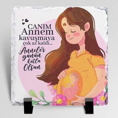 Hamile Anneye Hediye Taş Blok - Thumbnail