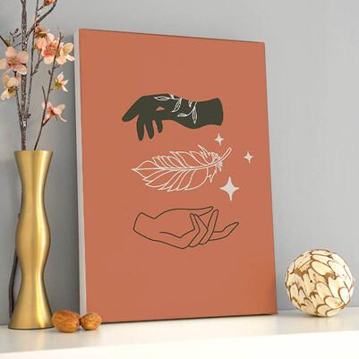 - Hands Sanatsal Kanvas Tablo