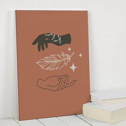 Hands Sanatsal Kanvas Tablo - Thumbnail