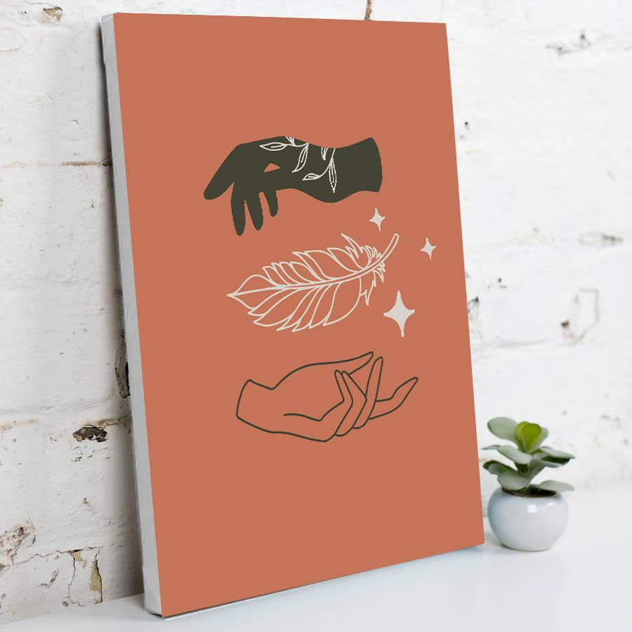 Hands Sanatsal Kanvas Tablo