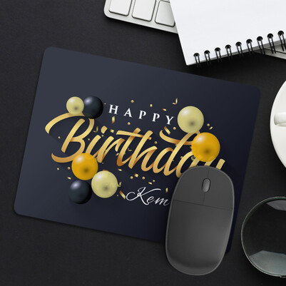 - Happy Birthday İsimli Mousepad