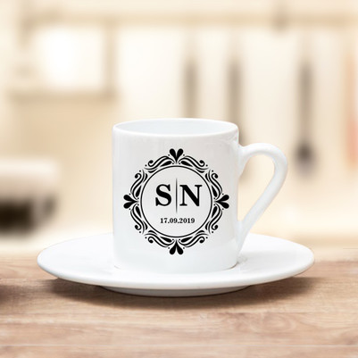 - Harfli ve Tarihli Tasarım Kahve Fincanı