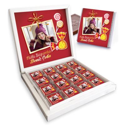 Hayırlı Bayramlar Mesajlı Bayram Çikolatası - Thumbnail