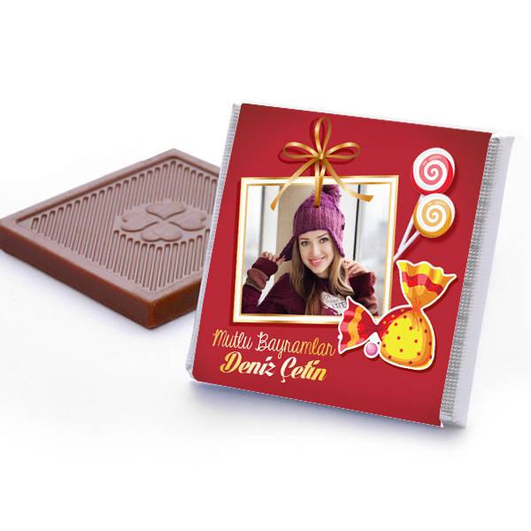 Hayırlı Bayramlar Mesajlı Bayram Çikolatası