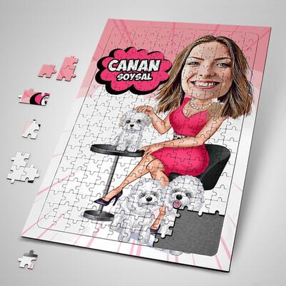 - Hayvan Sever Karikatürlü Puzzle