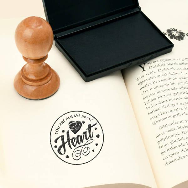 Heart Tasarımlı Okuma Mührü