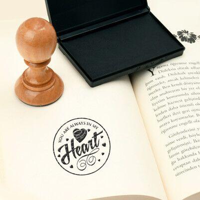 Heart Tasarımlı Okuma Mührü - Thumbnail