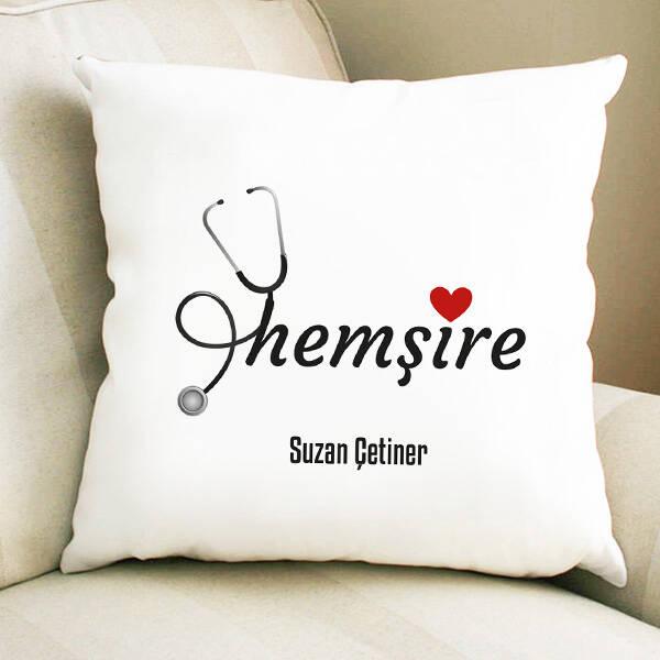 Hemşire Sevgisi Hediye Kare Yastık