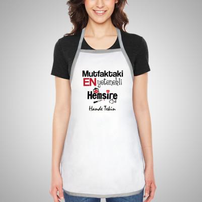 - Hemşireye Hediye Mutfak Önlüğü