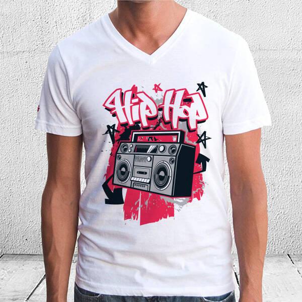 Hip Hop Tasarımlı Unisex Tişört